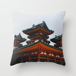 Heian Shrine Throw Pillow