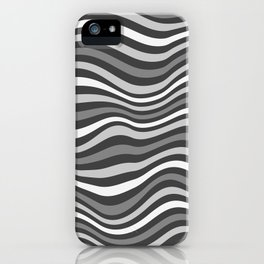 GrayWaving iPhone Case