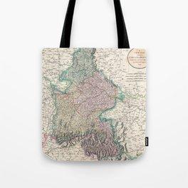 Vintage Map of Bavaria Germany (1799) Tote Bag