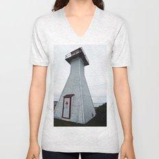 Antique Range Light - Lighthouse Unisex V-Neck