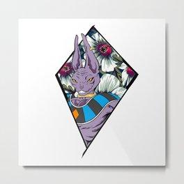 Purple Sphynx Cat Metal Print