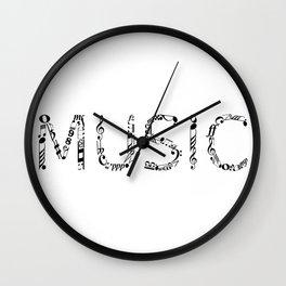 Music typo Wall Clock