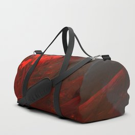 Mountain expressionist painting colorful space atmospheric digital illustration Duffle Bag