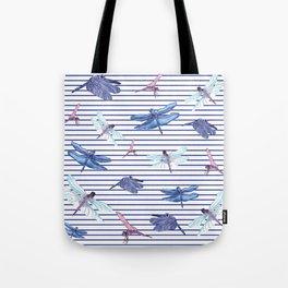 Dragonfly stripes Tote Bag