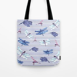 Dragonfly stripes Tote Bag