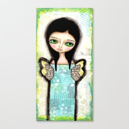 Mixed Media Fairy Girl 1  Canvas Print