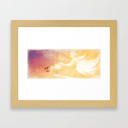 """Teatime with The Sun // Illustration from """"Once Upon A Cloud"""" Framed Art Print"""