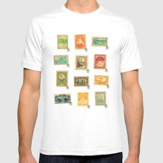 Star Wars Stamps MEDIUM Mens Fitted Tee White