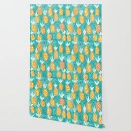 Fresh Pineapples Wallpaper
