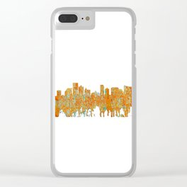 Atlantic City Skyline - Rust Clear iPhone Case