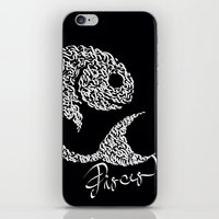 pisces iPhone & iPod Skins featuring pisces by freebornline