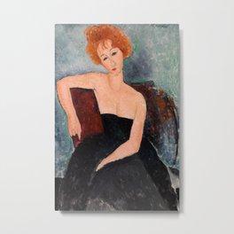 Amedeo Modigliani - Redheaded Girl in Evening Dress Metal Print