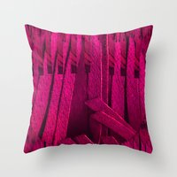 leather Throw Pillows featuring Leather pattern by Pepita Selles