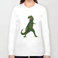 t rex Long Sleeve T-shirts featuring T Rex by Lydia Meiying