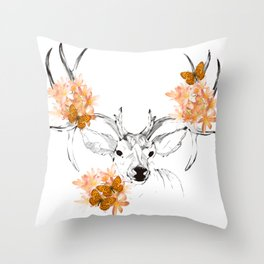 spring cervo Throw Pillow
