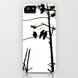 Three Crows High Contrast iPhone Case