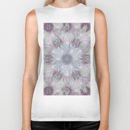 Lavender swirl pattern Biker Tank