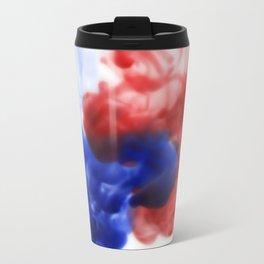 Patriotic Ink Drop Metal Travel Mug