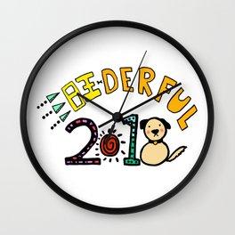 2018 Wang-derful Dog Doodles Wall Clock