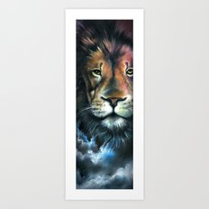 Lion in the Clouds Art Print