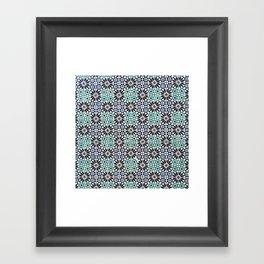 Portuguese Tile Pattern Framed Art Print
