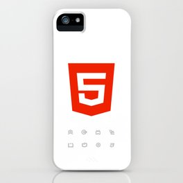 HTML5 Brand Launch iPhone Case