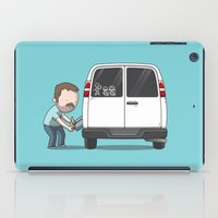sticker iPad Cases featuring Family Car Sticker by See Mike Draw