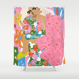 Living in Chaos Shower Curtain