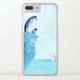 Penguins Clear iPhone Case