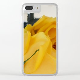 Single Yellow Rose of Texas Clear iPhone Case