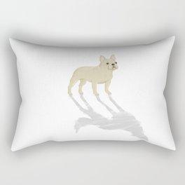 Wild At Heart - Cream French Bulldog Rectangular Pillow