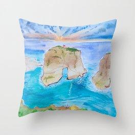 Raouche Rock Throw Pillow