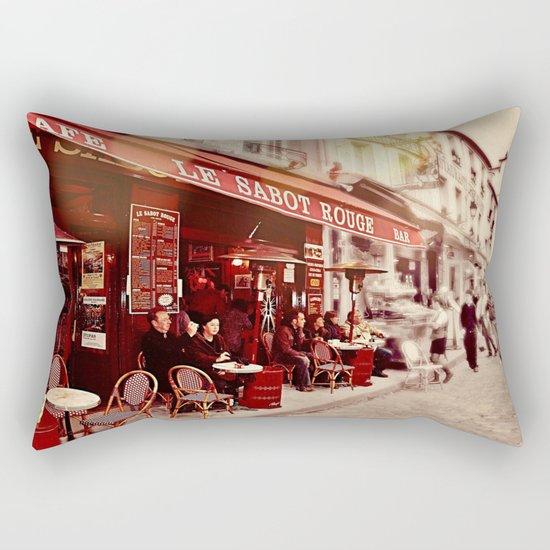 Coffehouse, Sidewalk Cafe Rectangular Pillow