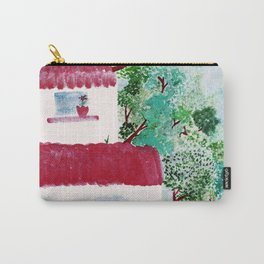 Village houses in the woods watercolor Carry-All Pouch
