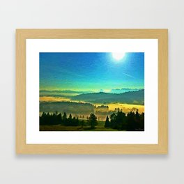 A beautiful day in the Kanton Schwyz  #oilpainting Framed Art Print