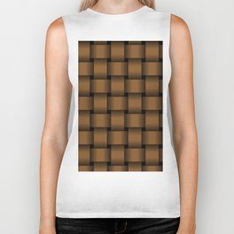 Large Brown Weave Biker Tank