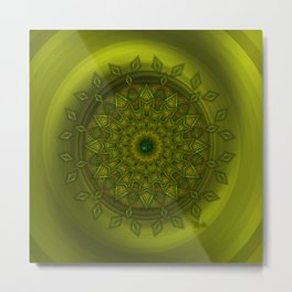 Positive thoughts - Jewel Mandala Metal Print