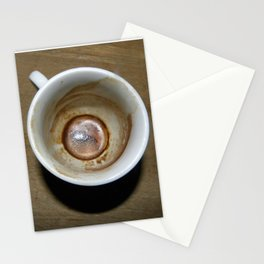 Empty cup of coffee Stationery Cards
