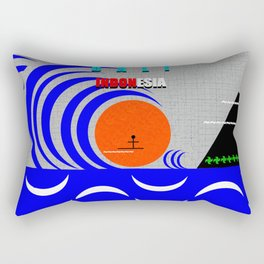 Bali Indonesia surfing design A Rectangular Pillow