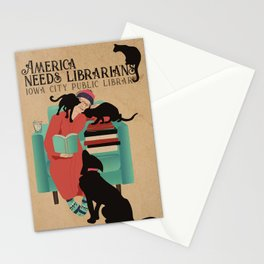 America Needs Librarians Stationery Cards