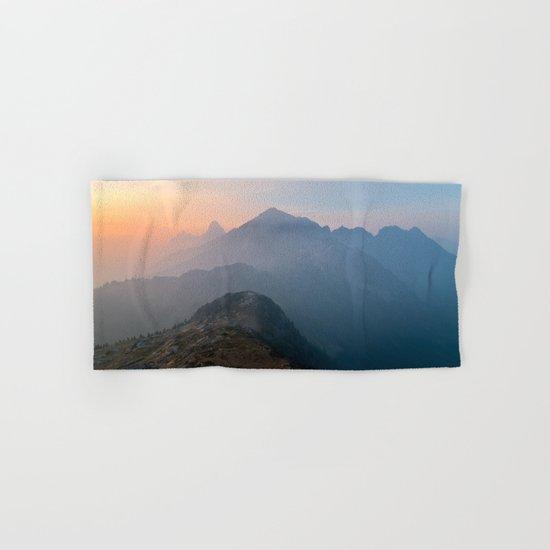 Pastel sunset peak Hand & Bath Towel
