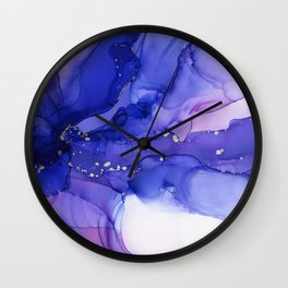 Ethereal Flower Abstract Ink Wall Clock