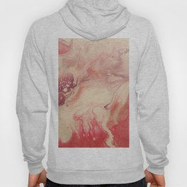 Pink Blush - Abstract Acrylic Art by Fluid Nature Hoody