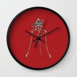 Martian Tripod Queen: Mars Red Wall Clock
