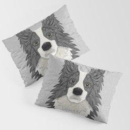 Border Collie - blue merle Pillow Sham