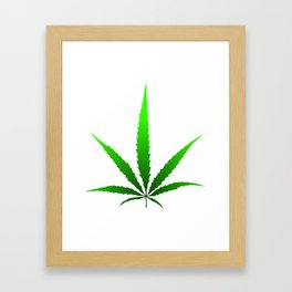 leaf of grass Framed Art Print