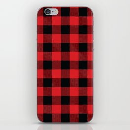 Buffalo Plaid Christmas Red and Black Check iPhone Skin