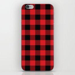 Buffalo Plaid Christmas Red and Black Check iPhone Skin