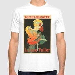 Belle Epoque vintage poster, Folies Bergere, La Loie Fuller T-shirt