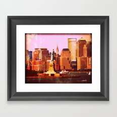 Warm NYC Framed Art Print